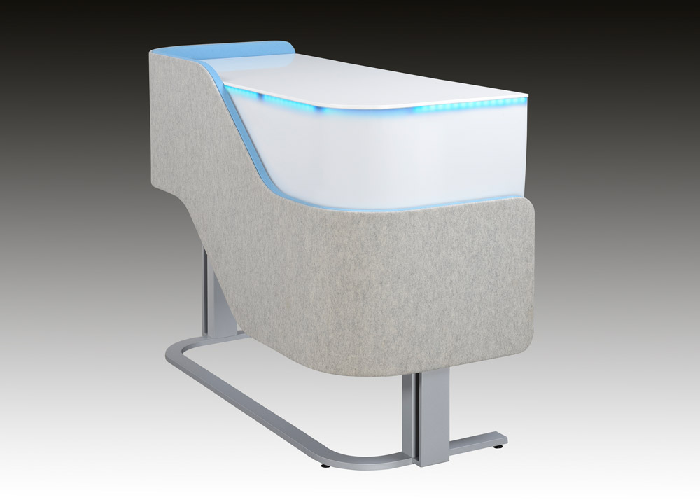 Wavo Height Adjustable Desk Design With Privacy Function