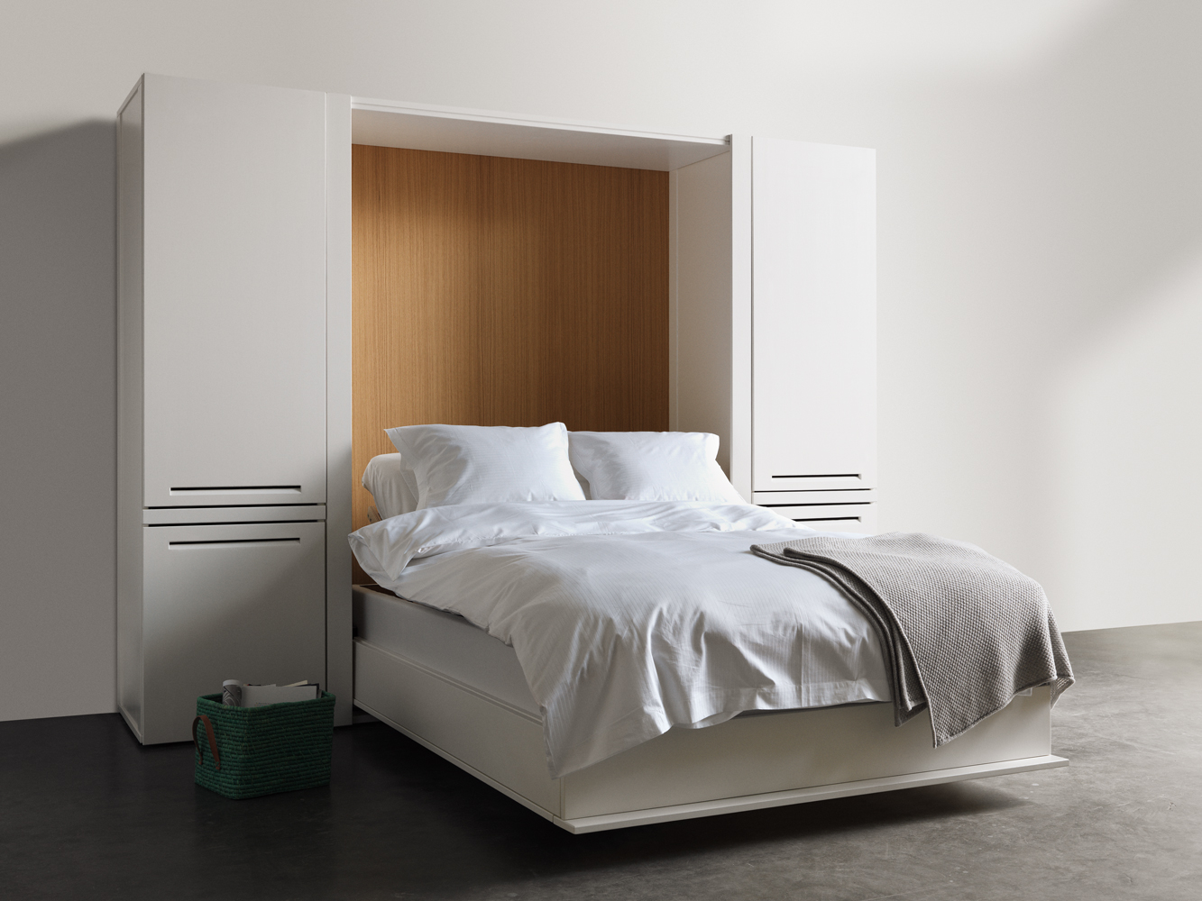 multifunctional bed cabinet asante arkitektur design ab. Black Bedroom Furniture Sets. Home Design Ideas